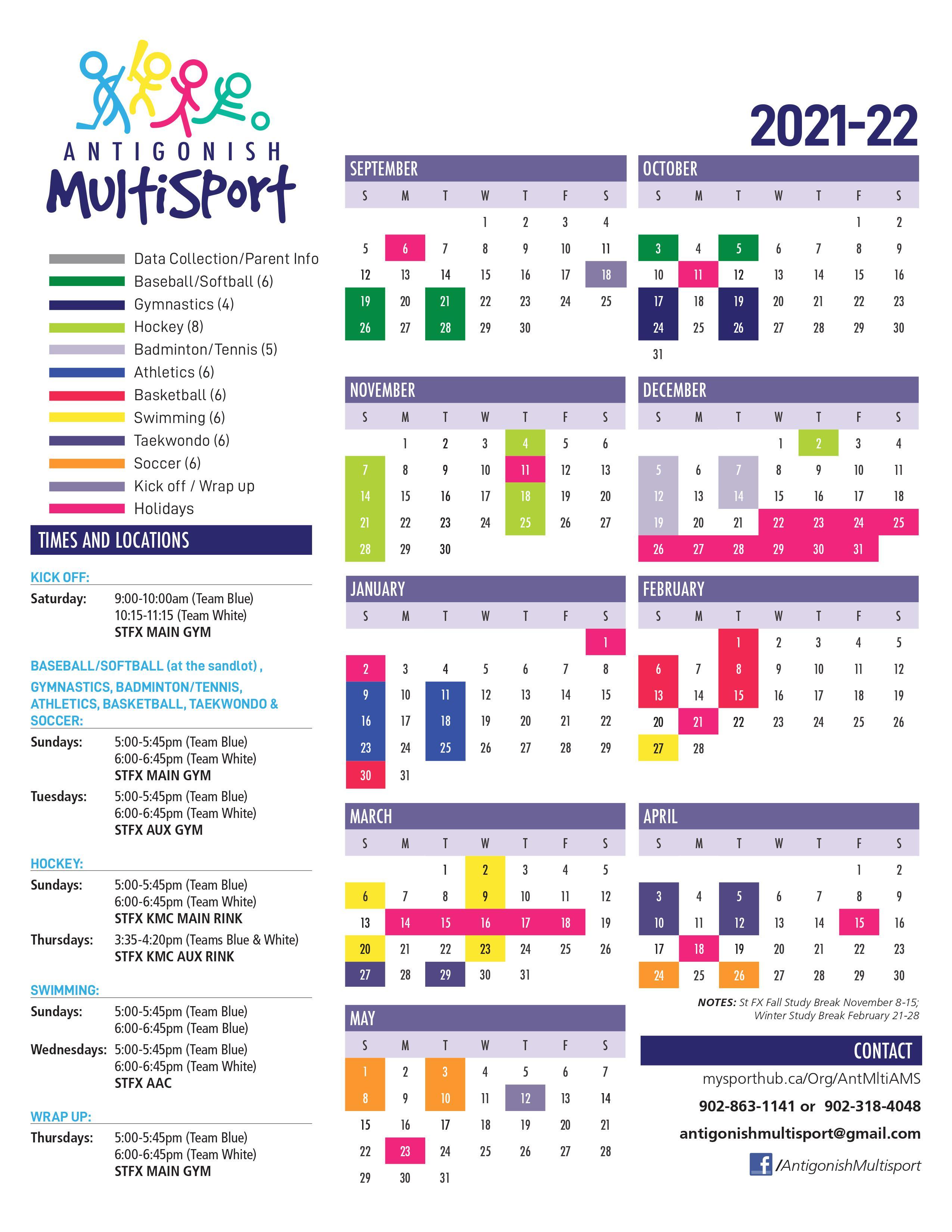 Multisport Calendar